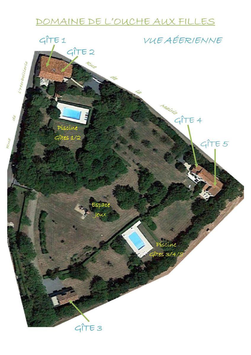 Vue aérienne du parc d'un hectare