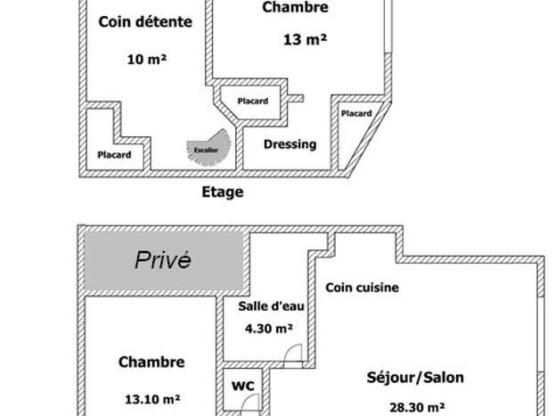 plan du gîte de l' atelier du bord de mer