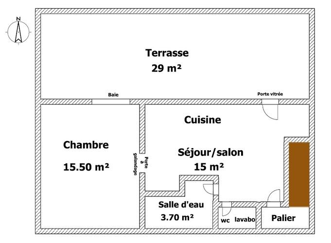 Plan du gîte la terrasse