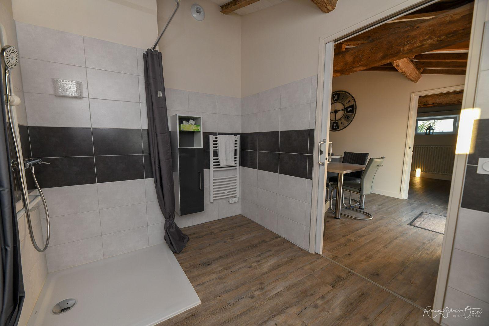 Linge de toilette, sèche cheveux, papier toilette et trousse de secours à disposition