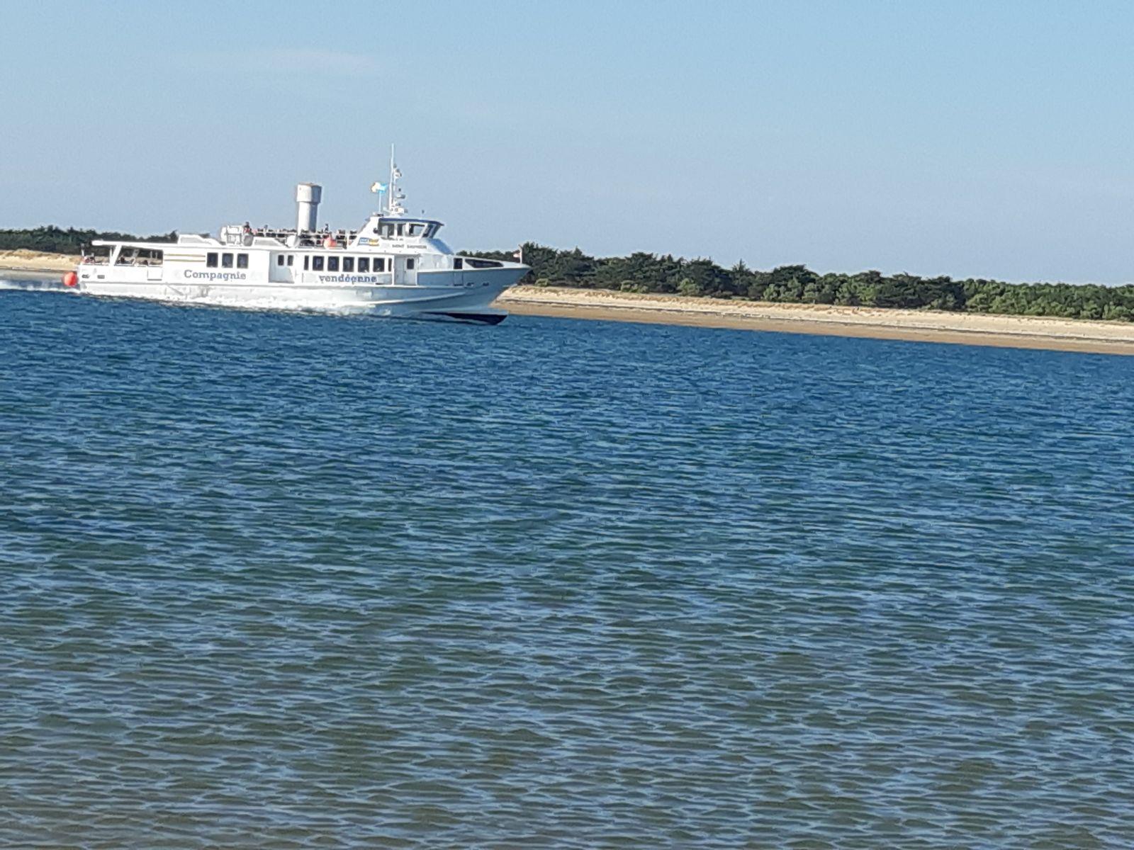 Départ pour l'Ile d'Yeue de Fromentine à 20 kms.