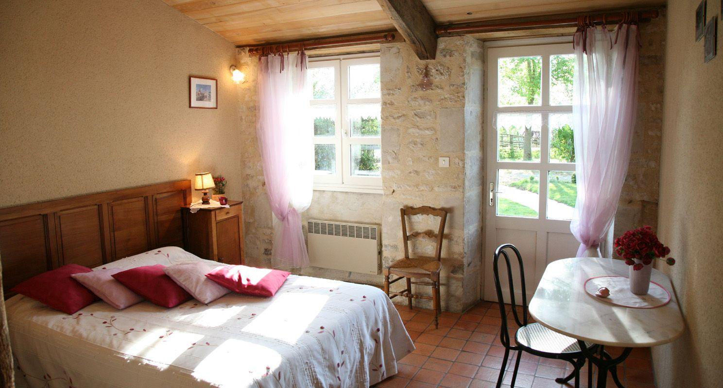 chambre rose trémière