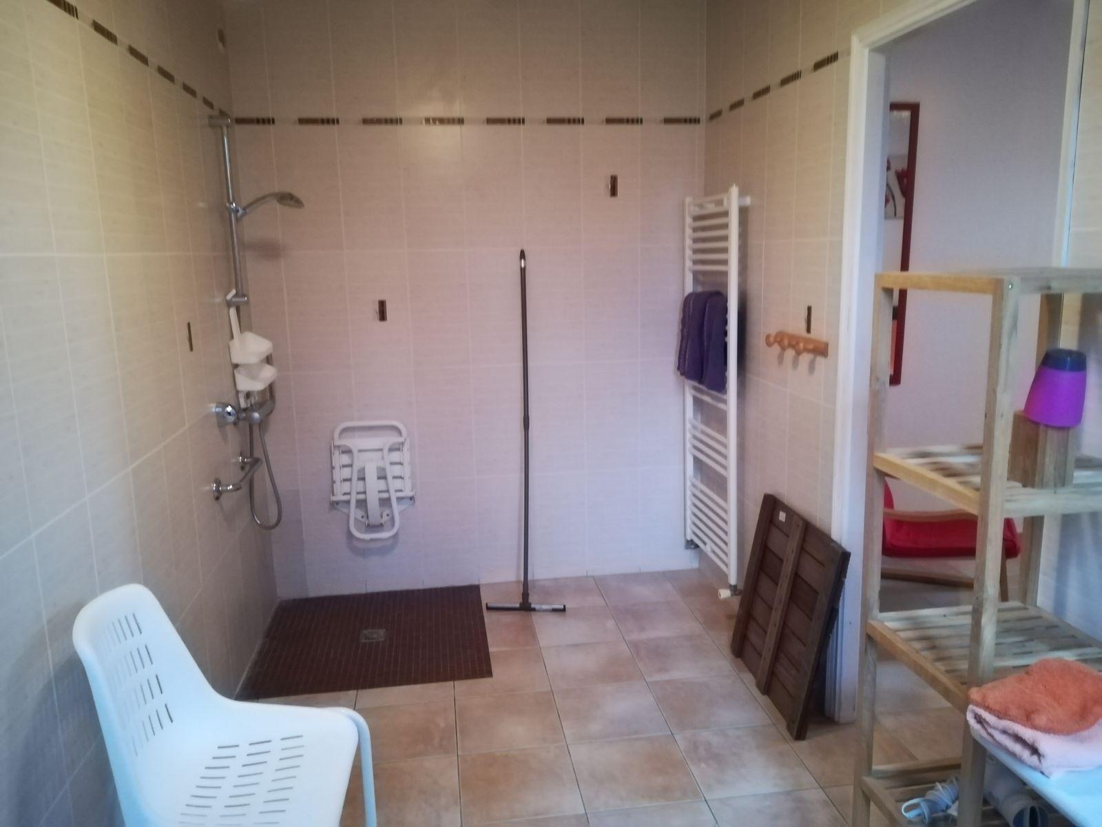 La salle d'eau de la chambre Aubépine