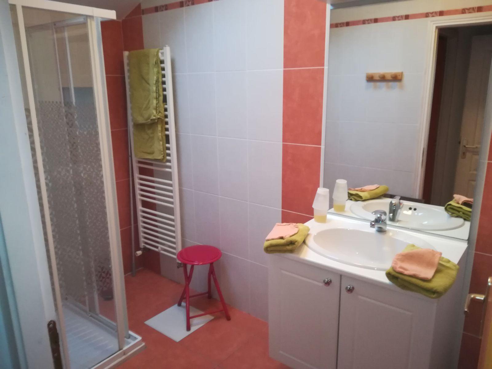 La salle d'eau de la chambre Amaryllis