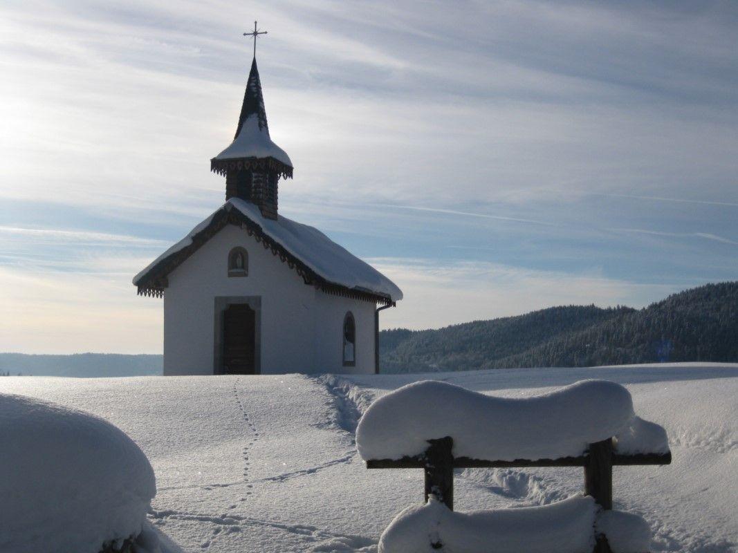 la chapelle de pitié en hiver